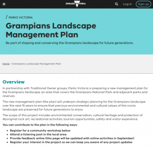 Grampians Landscape Management Plan